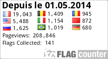 Visiteurs de Backlink Express Forum depuis le 01.05.2014 avec Flag Counter