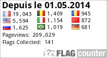 Visiteurs de Backlink Express Forum depuis le 01.05.2014 avec Flag Counter